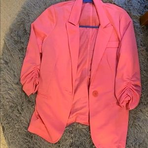 super lightweight pink blazer